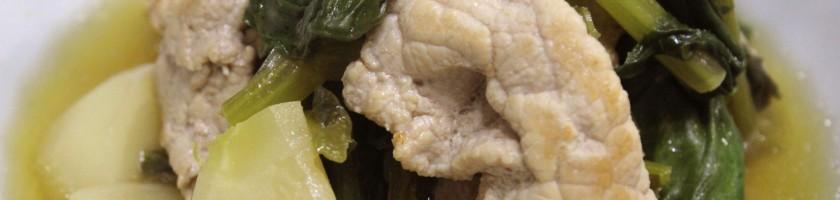蕪(カブ)と豚肉の炒め煮