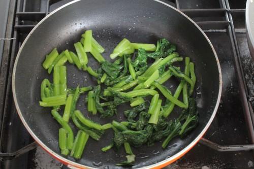小松菜の玉子炒め