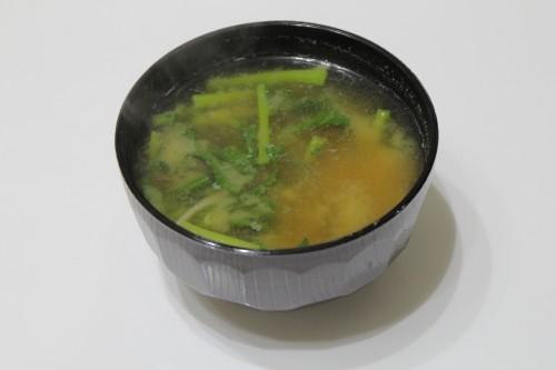 2016_03_11中島菜の味噌汁