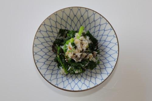 2016_03_12からし菜のジャコおろし和え