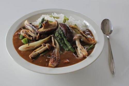 カレーライス 素焼き野菜トッピング