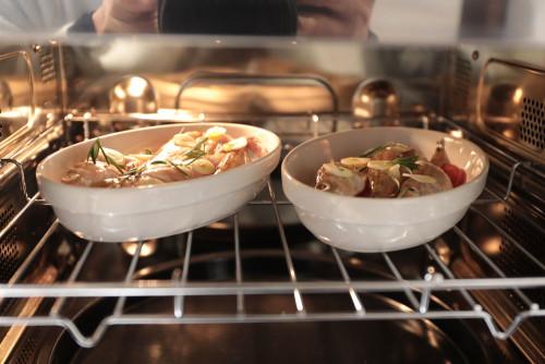250℃のオーブンで焼き上げる