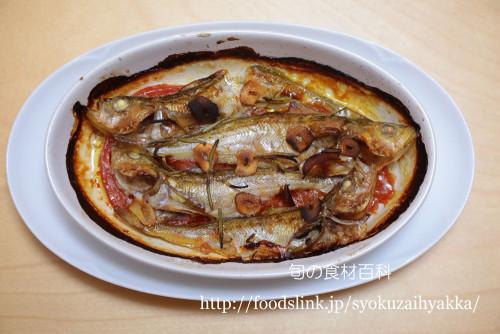 ハタハタとトマトののオーブン焼き